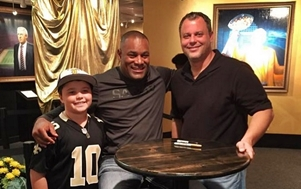 JJ McCleskey at Saints Hall of Fame Museum